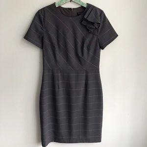 Banana Republic Gray Plaid Sheath Dress Sz 8